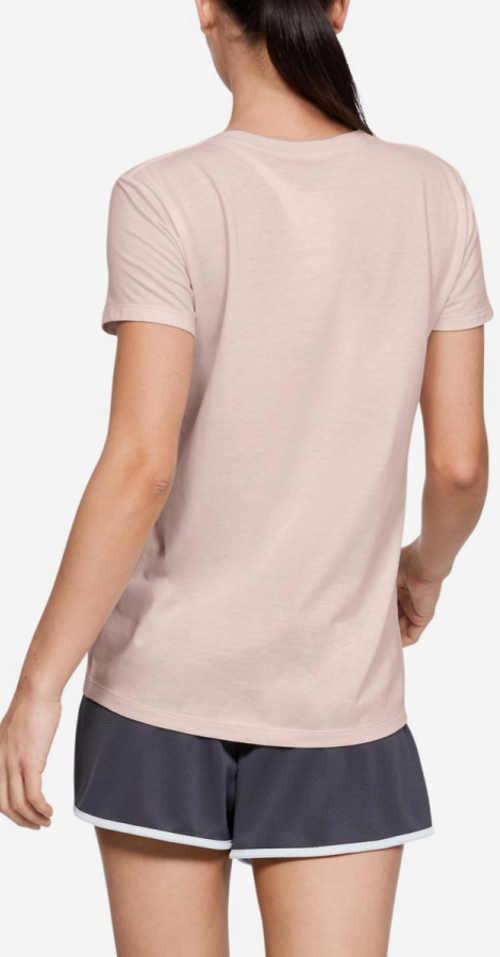 Světlé růžové dámské sportovní tričko