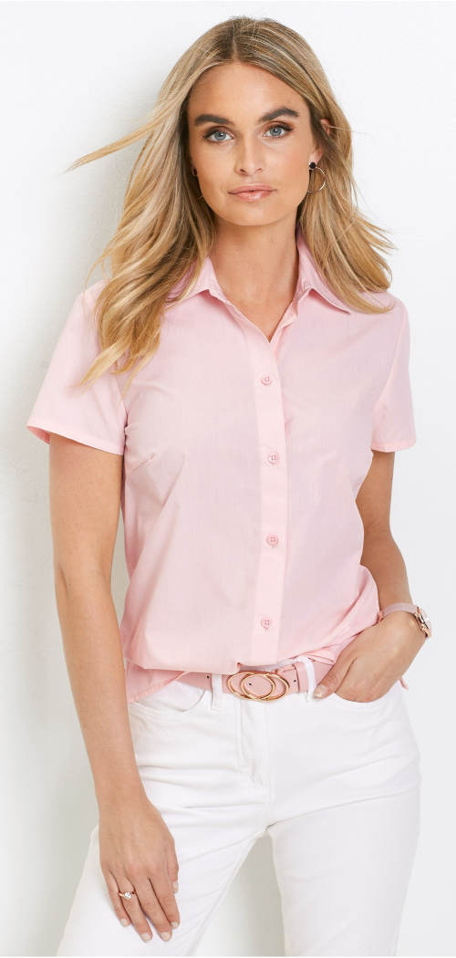Levná dámská košile s krátkým rukávem