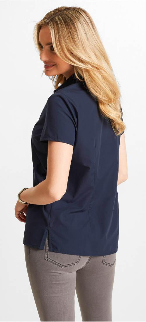 Tmavě modrá dámská letní košile