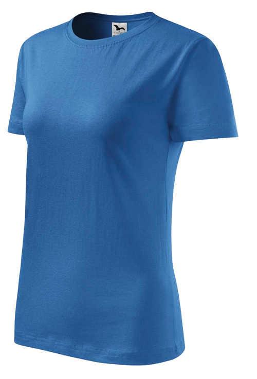 Modré jednobarevné bavlněné tričko