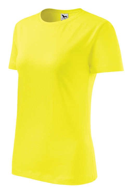 Jednobarevné dámské tričko pro plnoštíhlé
