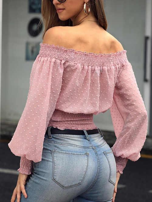 Moderní růžová halenka k džínám