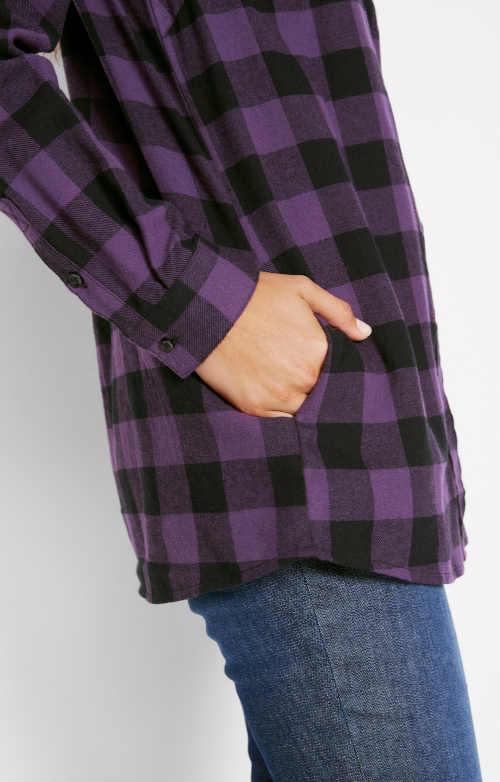 Dámská košile s dlouhým rukávem a kapsičkou