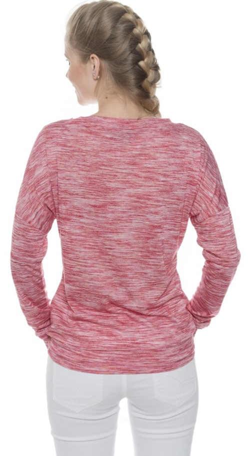 eplé dámské tričko s růžovým žíháným vzorem