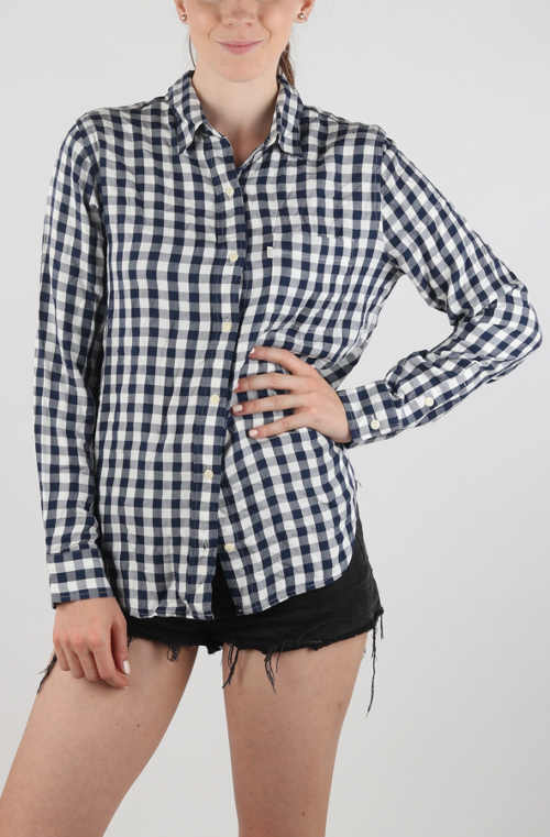 Černobílá dámská košile Levi's drobnou kostičkou
