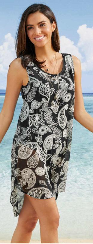 Plážové dámské šaty bez rukávů