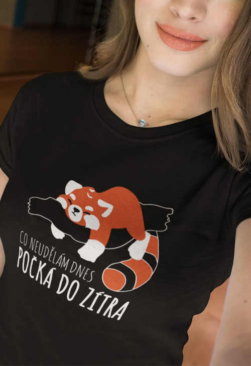 Bavlněné dámské tričko s vtipným textem a obrázkem