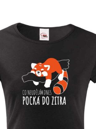 Dámské bavlněné tričko s vtipným textem a roztomilým obrázkem