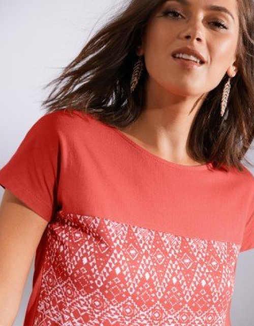 Dámské dvoubarevné tričko s potiskem