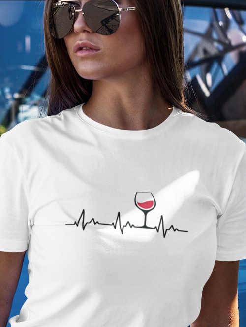 Dámské tričko s vtipným motivem z příjemného materiálu