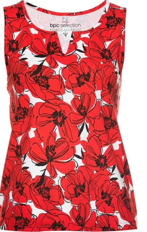 Moderní dámský top bez rukávů s květinovým vzorem