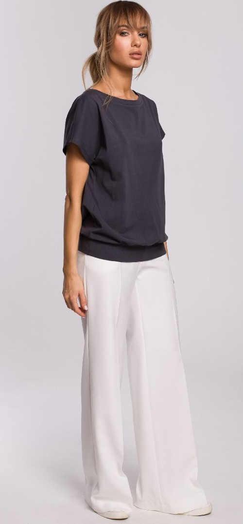 Moderní dámský top z příjemného materiálu a odhalenými zády