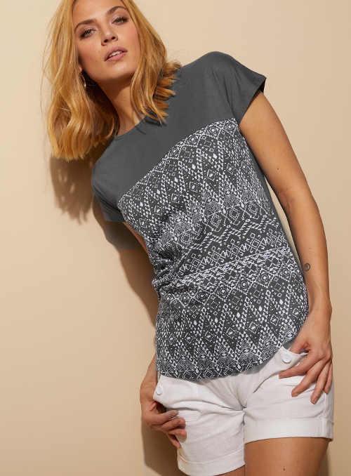 Pohodlné dámské tričko s potiskem