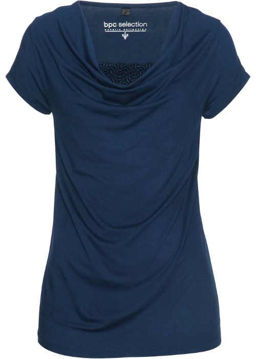 Tmavě modré dámské tričko s vodou