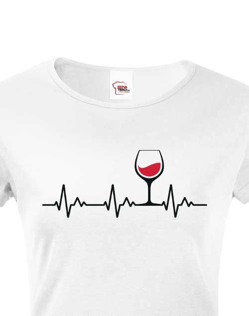 Tričko dámské s humorným motivem z kvalitního materiálu