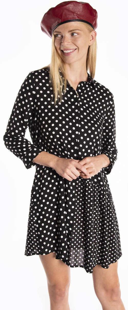 Dlouhá puntíkovaná blůzka - letní šaty