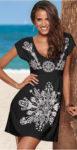 Lehké letní šaty se stažením pod prsy