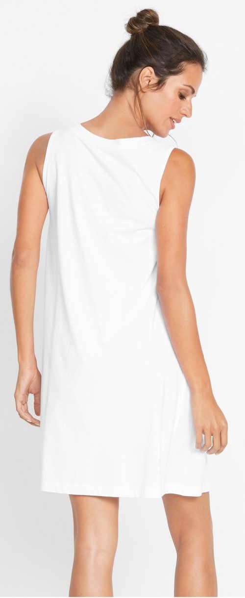 Levné bílé dámské letní šaty Bonprix