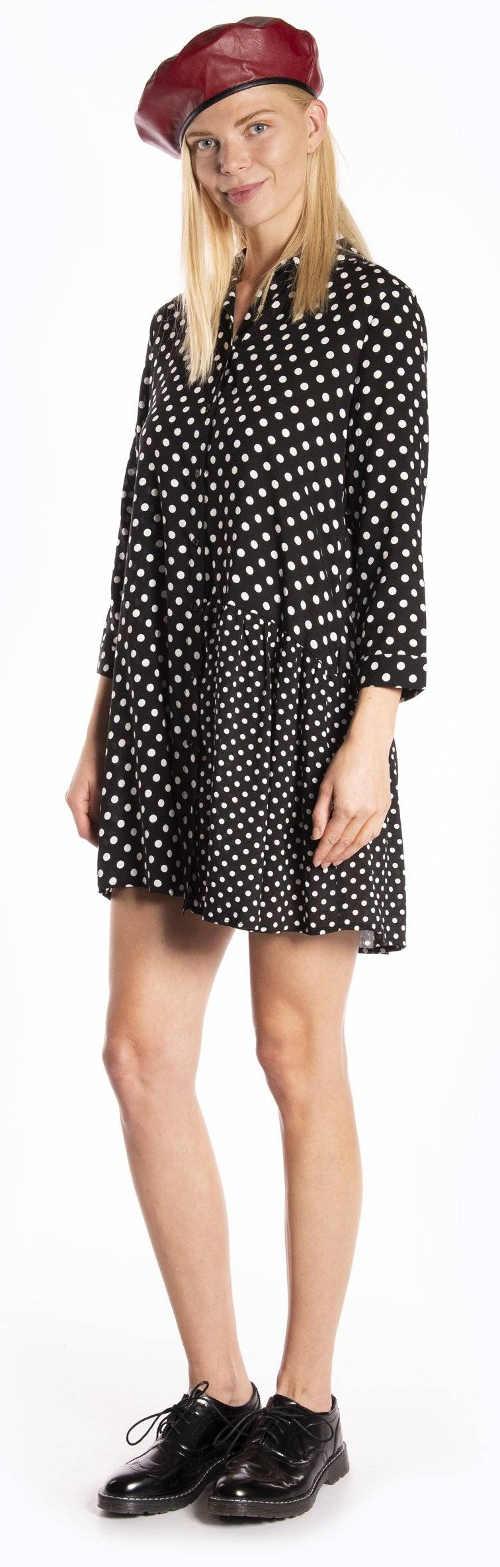 Levné dámské puntíkované šaty
