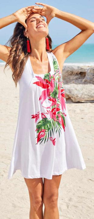 Tílkové letní šaty s květinovým potiskem