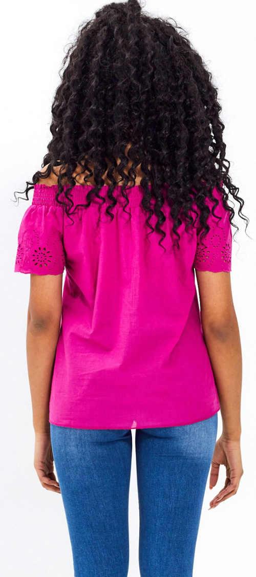 Vyšívané dámské tričko s krátkým rukávem