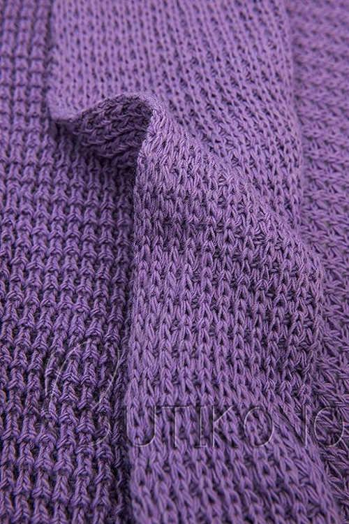 pletený top ve fialovém provedení