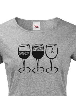 Dámské bavlněné tričko s humorným nápisem v různých barvách