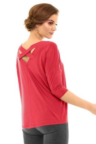 Dámské moderní triko s efektivním prostřihem na zádech