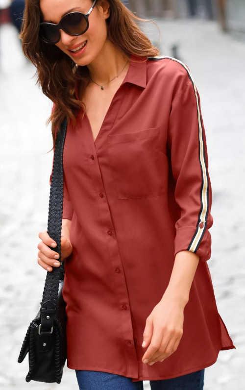 dámská košile v dlouhé délce ve dvou barvách