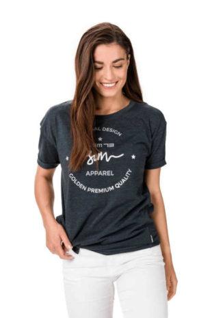 dámské tričko volnějšího střihu s potiskem