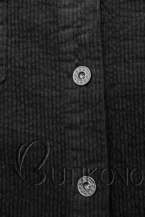 košile z manšestrového materiálu černá