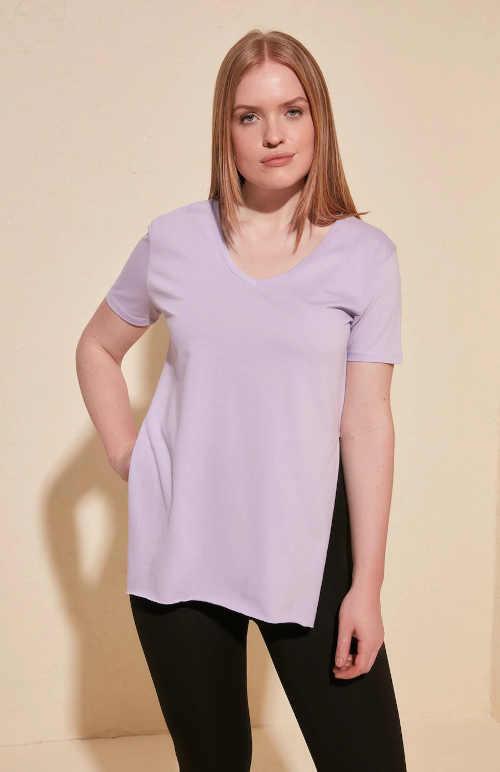 bavlněné tričko s rozparky po stranách