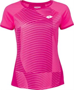 Dámské sportovní růžové tričko s krátkým rukávem na tenis