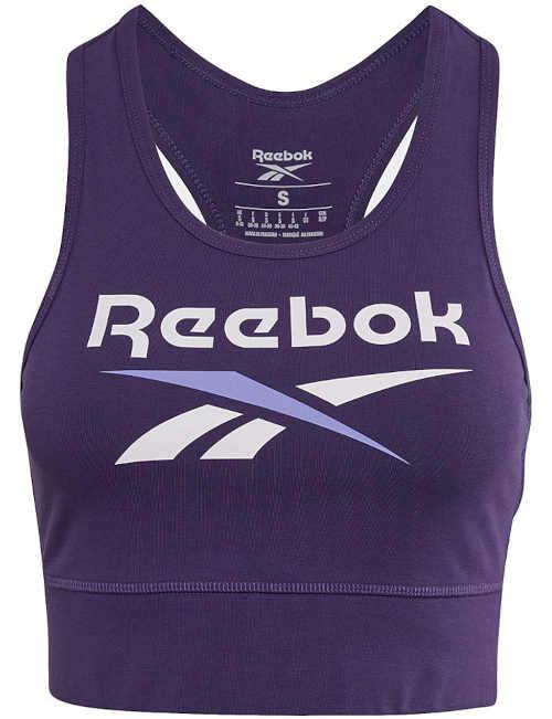 Dámský sportovní top Reebok ve fialovém provedení