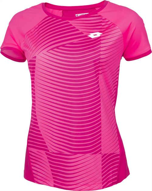 růžové sportovní tričko na tenis