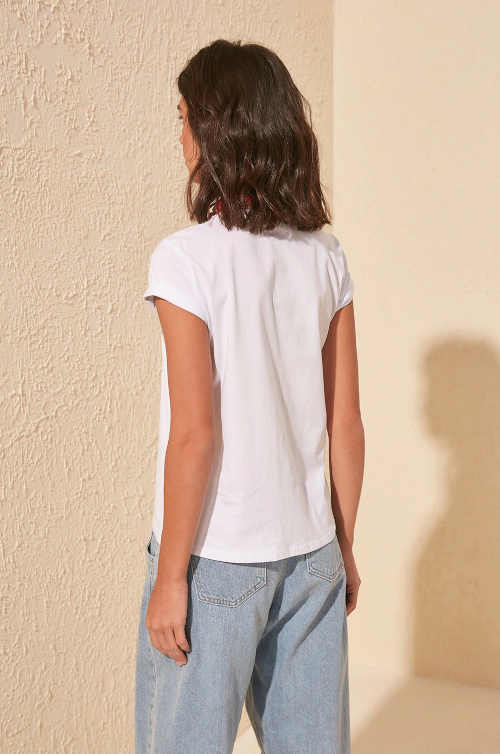 tričko z bavlny bílé