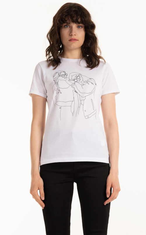 Bavlněné tričko s krátkým rukávem s grafickým potiskem