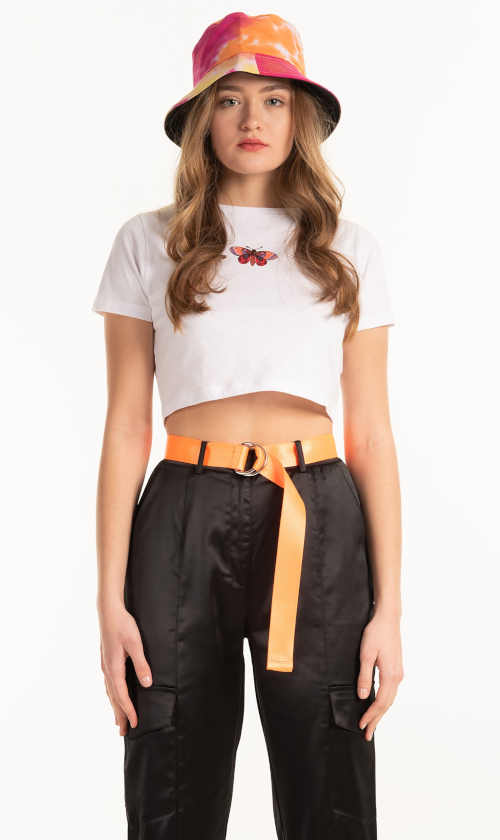 Krátké sexy tričko s potiskem z kvalitní organické bavlny