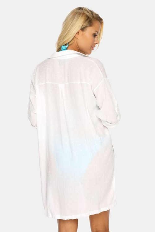 bílé plážové šaty Astratex