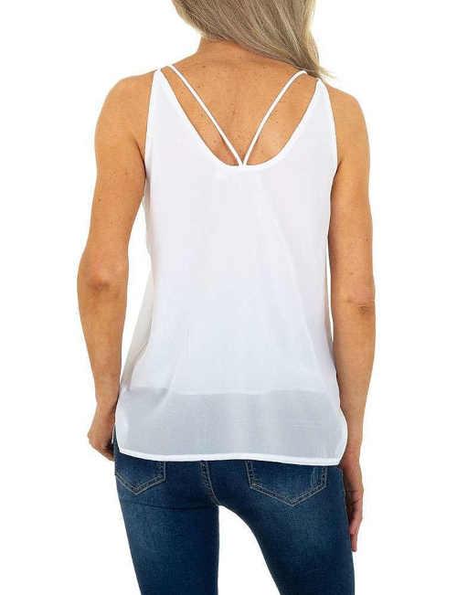 top bílý fashion na ramínka
