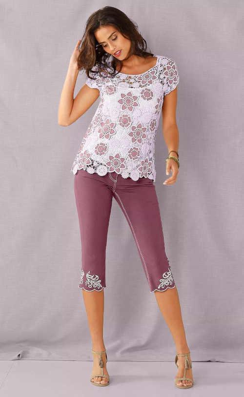 tričko macramé s krátkým rukávem