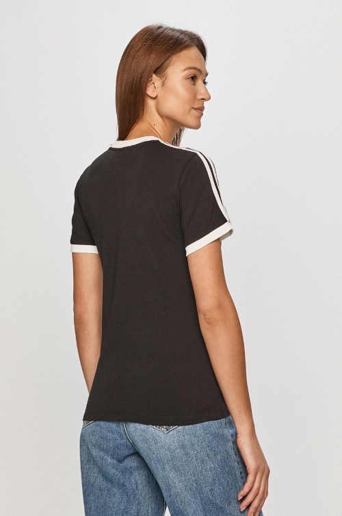 bavlněné tričko Adidas černé