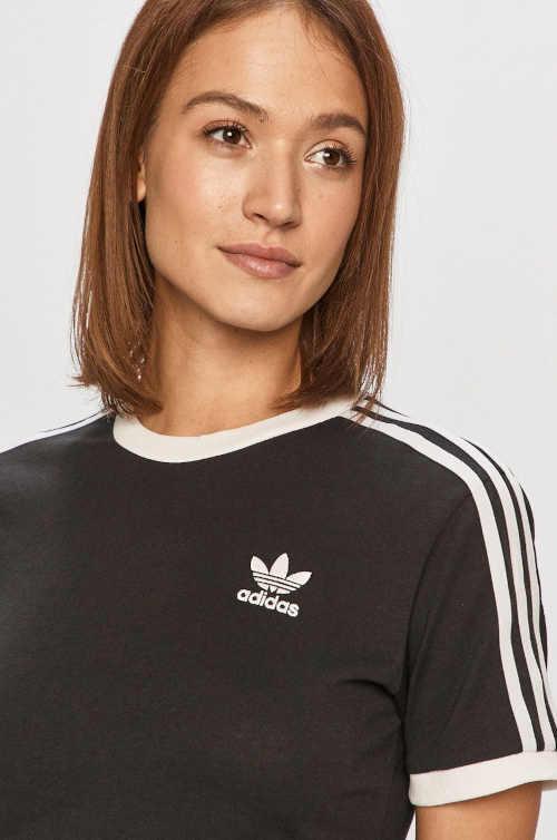 černo-bílé tričko Adidas