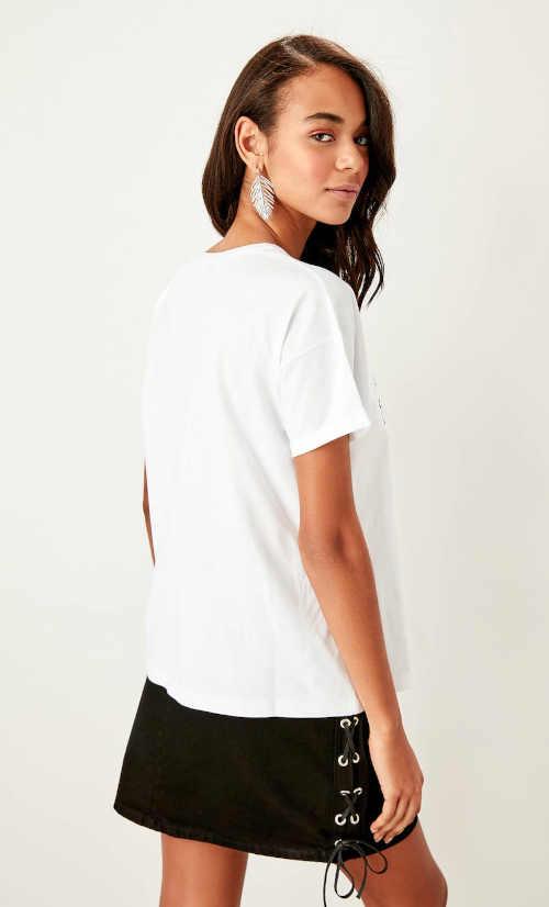 dámské bílé bavlněné tričko