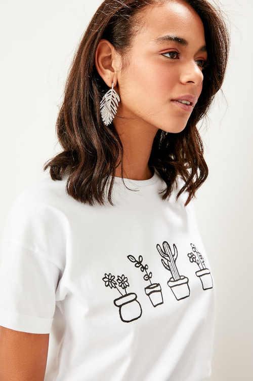 dámské tričko z bavlny